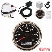 GPS-измеритель скорости для легковых автомобилей, внедорожников, 85 мм, 120/200 км/ч, IP67, 9-32 В, с красной подсветкой
