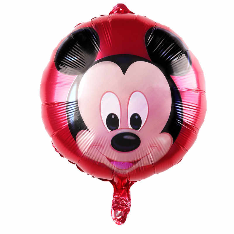 Новый фольгированный круглый шар Микки украшения воздушный шар оптовая продажа детский день рождения