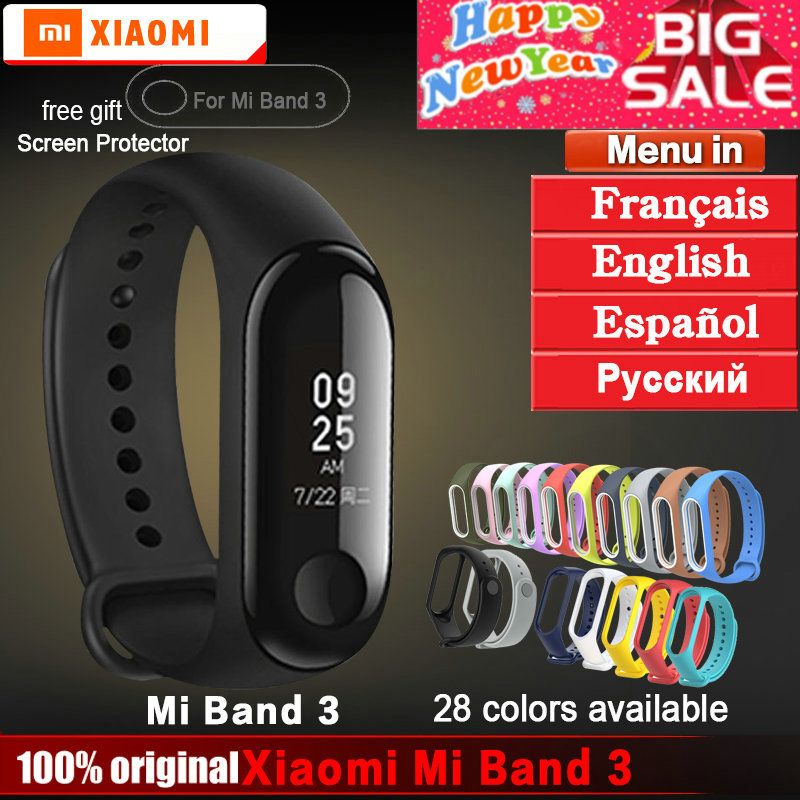 Original xiaomi mi band 3 bracelet wristband miban...