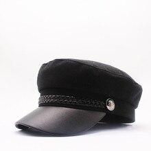 2019 NEW Winter spring fashion womens wool hat British style warm retro newsboy caps military octagonal cap female visor
