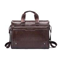 2016 Fashion New Men Handbag Shoulder Bags PU Leather Man Messenger Bag High Quality Laptop Bag