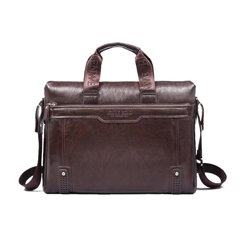 2017 Fashion New men Handbag Shoulder Bags PU Leather Man Messenger Bag High Quality Laptop Bag M0038 Free Shipping