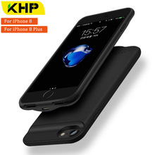 Фотография 2018 KHP New Battery Charger Case For iPhone 8 Plus Case 2500/3200mAh Slim Power Bank Case External Battery Case PowerBank