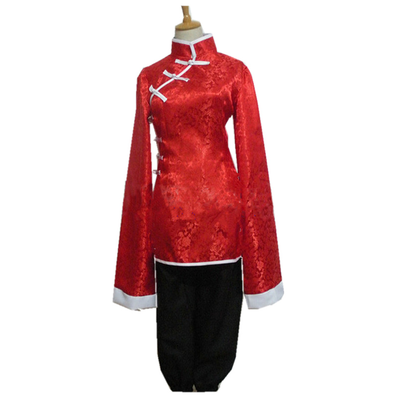 Hetalia Axis Powers China Wang Yao Cosplay Costume The clothes and trousers  customized