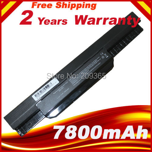 7800mAh laptop battery for ASUS X54C X54H X54HR X54HY X54L X54LY Laptop A41-K53 A32-K53
