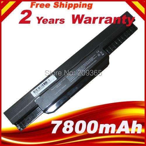 7800mAh Laptop Battery For ASUS X54C X54H X54HR X54HY X54L X54LY Laptop A41-K53 A32-K53