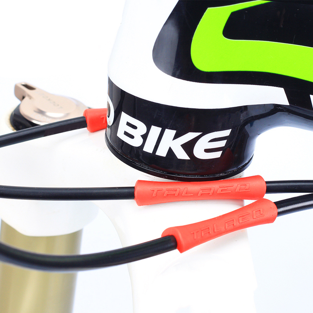 Details about  /4pcs Bike Shift Cable Housing Tube Sleeve Guard Rubber Brake Protective Cover