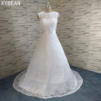 Cheap Price 2015 New Free Shipping Cap Sleeve Lace Sashes A Line White Ivory Wedding Dresses