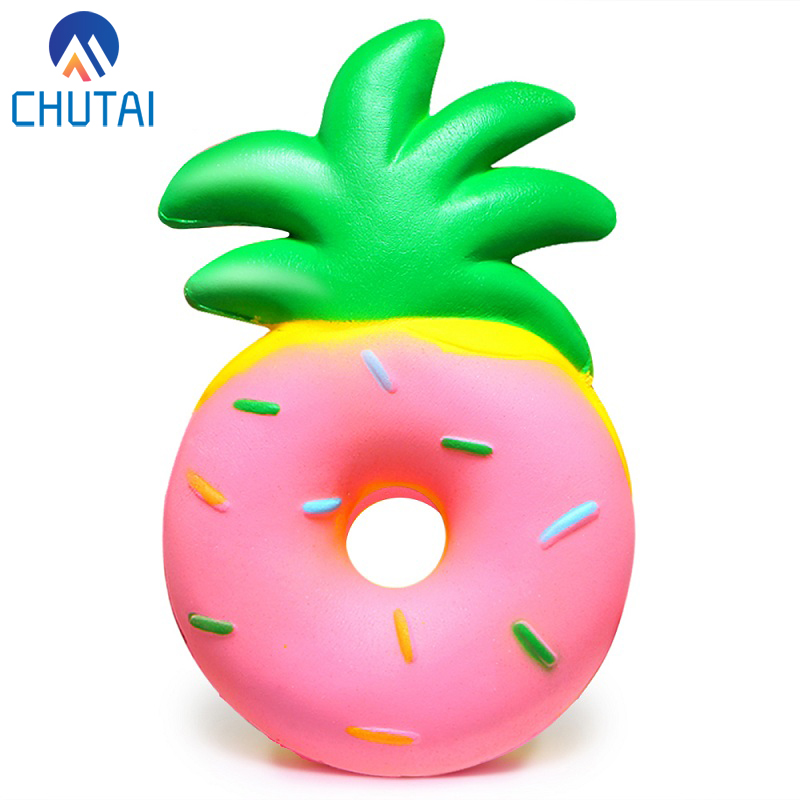 Jumbo Pineapple Donut Squishy Fruit Squishies Cream Scented Slow Rising Squeeze Toy Baby Kids Party Birthday Fun Gift 15*9.5*4CM