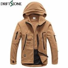 ФОТО winter thicken men's fleece jacket windproof outerwear man outdoor sports climbing warm sportswear