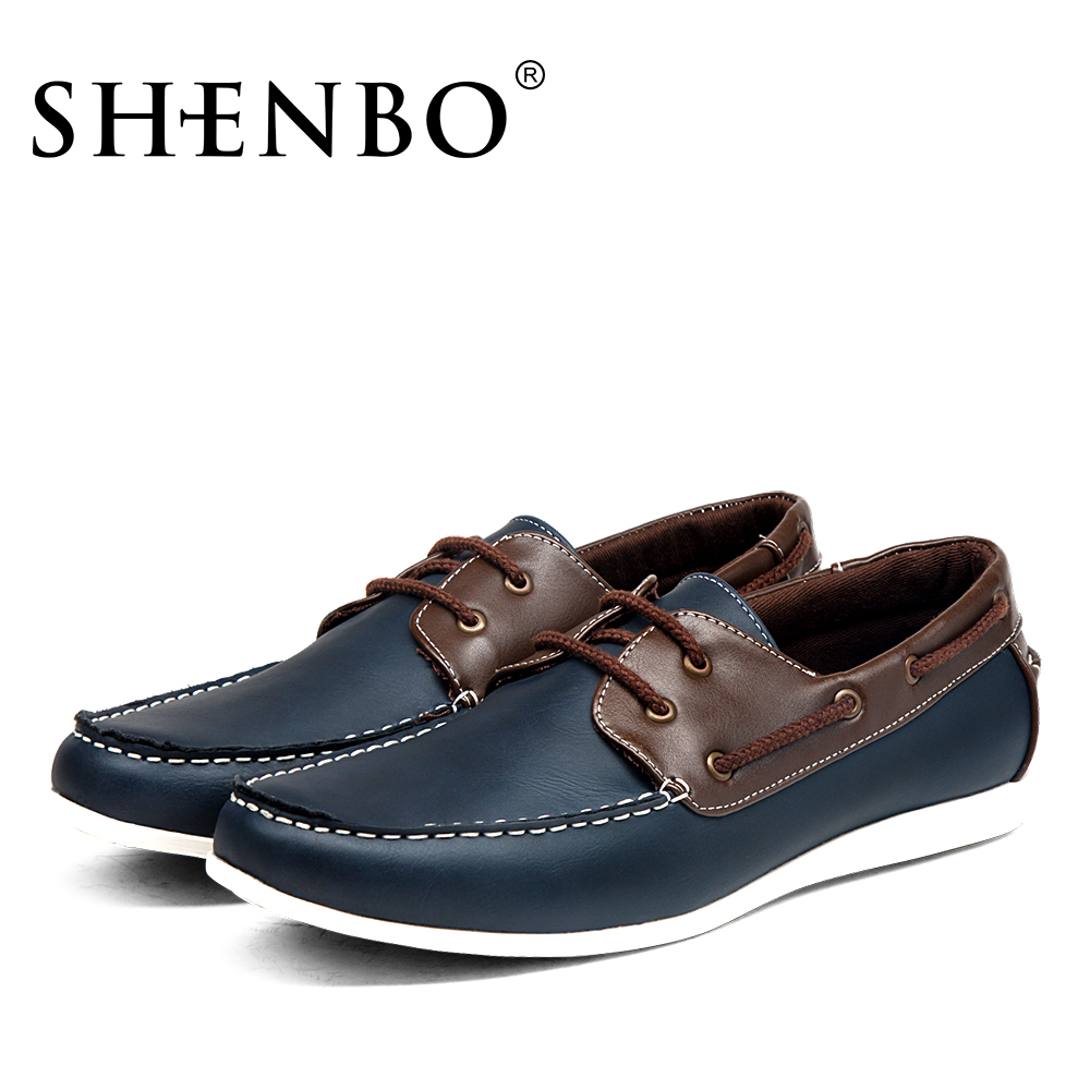 shenbo brand new style shoes lace up casual shoes