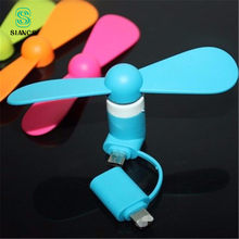 Flexible Micro USB und 8 Pin 2 in 1 Mini Fans Telefon Hand Fan für Samsung Xiaomi Android Handy fan für iPhone 5 5 s 6 6 s 7(China)