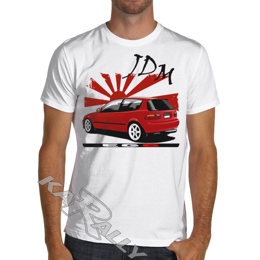 JDM Civic EG6 Racinger T Shirt Type R EK B16 B18 K20 White or Gray Mugen ...