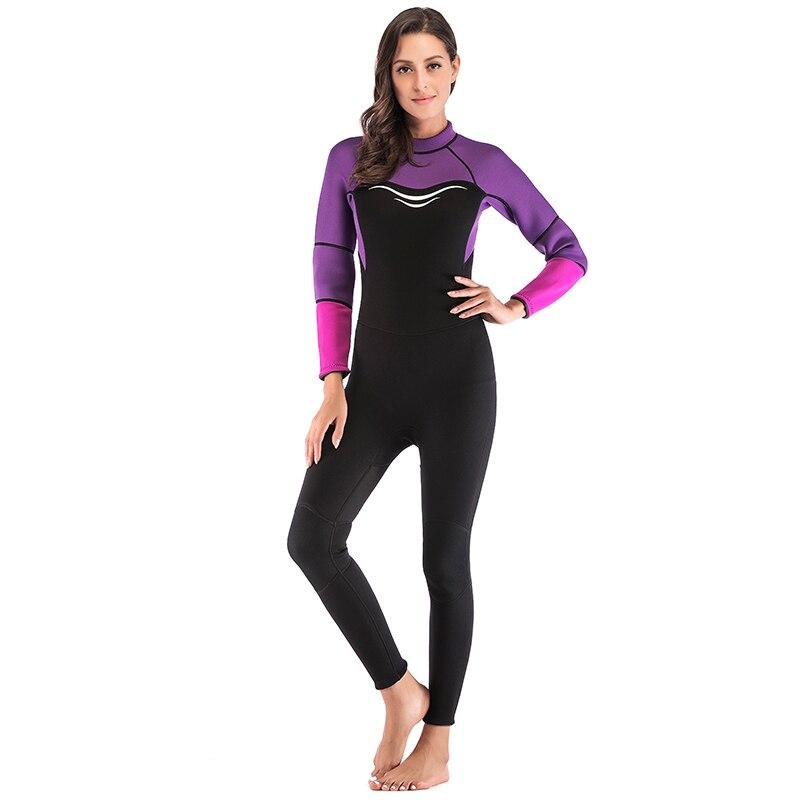 Combinaison femme 3mm néoprène surf plongée sous-marine plongée en apnée combinaison de natation combinaison combinaison humide dos Zip hiver printemps