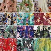 a3698d2b4f75 Винтажные Лоскутные ЦВЕТАСТАЯ шифоновая ткань текстильные для платья
