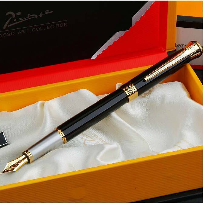 Luxury Picasso 903 Iraurita fountain pen stationery office school supplies metal write ink pens for christmas gift germany duke priest 0 5mm iraurita nib fountain pen high quality metal writing ink pens office and school supplies free shipping