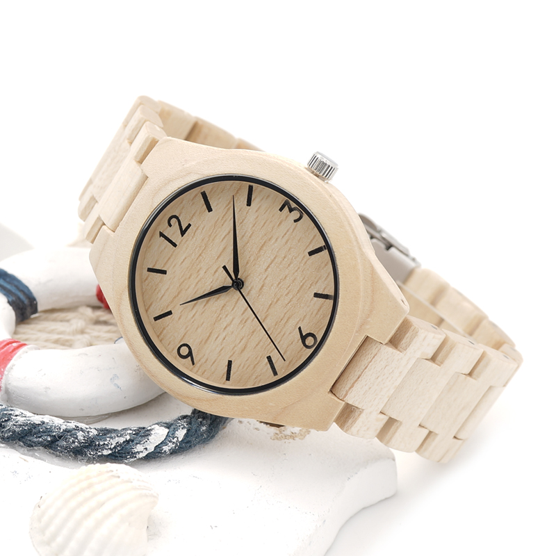 BOBO BIRD H01 Christmas Season Gift Design for Anniversary Edition Christmas Series of Wooden Watches Maple