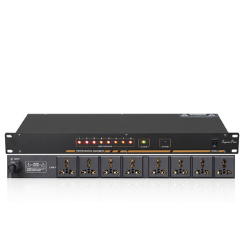 Professional stage 8/10 way power sequencer socket sequencer voltage display independent switch SR-310