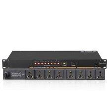 Profesyonel sahne 8/10 yollu güç sıralayıcısı soket sıralayıcısı gerilim ekran bağımsız anahtar SR 310