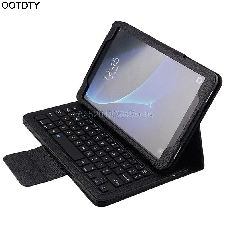 Bluetooth Keyboard Folio Case Cover for Samsung Galaxy Tab A 10.1 T580 Series #L059# new hot samsung keyboard cover ej cg930ubegru black