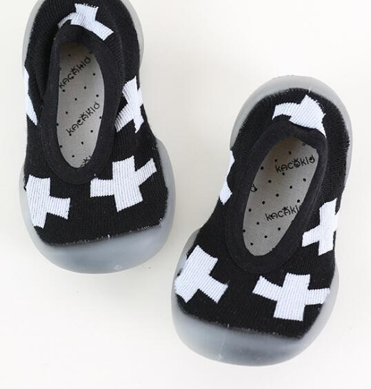 New baby first walkers anti-slip children rubber toddler baby shoes socks