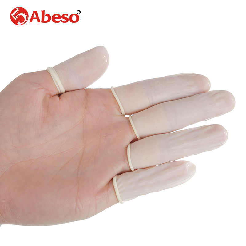 100/1000pcs/lot ABESO Antistatic durable latex finger cots safety gloves antislip for chalk Electronic finger cots A7213 100pcs protective antislip fingertips gloves latex rubber finger cots antistatic gloves workplace safety supplies