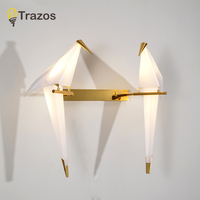 TRAZOS lovely Northern American contemporary and contract Dining Room Kitchen Home Fixture PVC Bird Lampshade 110 220V