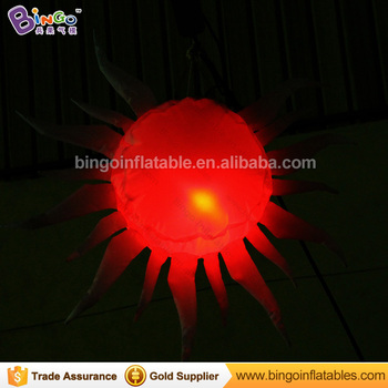 Customized 80CM LED lighting inflatable sun color change hanging type blow up sun replica light-up toy