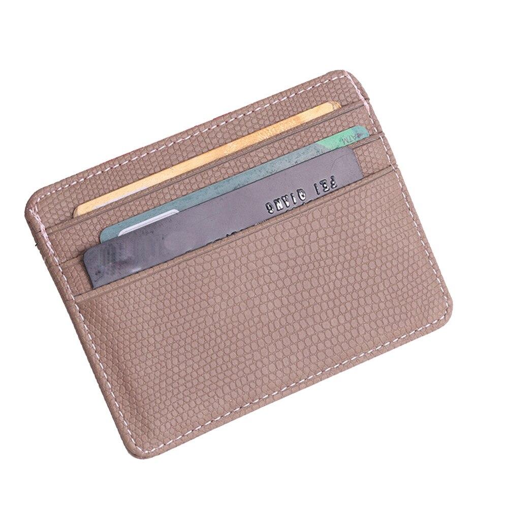 100% QualitäT Mode Frauen Lichee Muster Bank Kreditkarte Halter Weibliche Leder Karte Paket Geldbörse Visitenkarte Halter Dropship Z0320