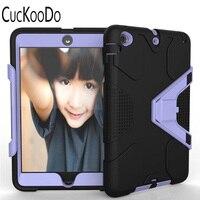 CucKooDo השפעה עמידה שכבה משולשת היברידית שריון מגן גוף מלא מגן עמיד הלם Case עבור iPad mini 1 2 3