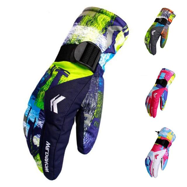 Новый Для мужчин лыжный ветрозащитный перчатки флис сноуборд перчатки 2017 Снегоход Мотоцикл езда Зимние перчатки Водонепроницаемый зимние перчатки
