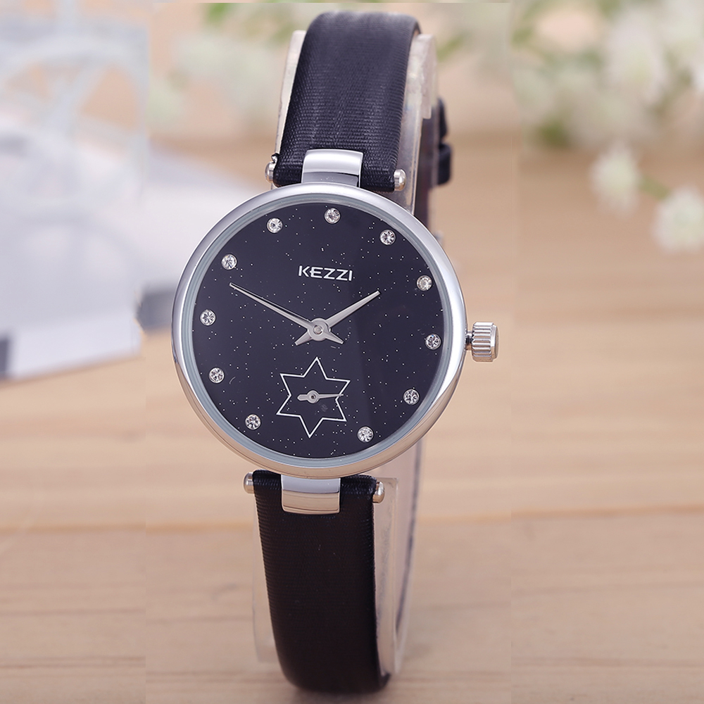 KEZZI New Brand Relogio Feminino Clock Female Leather Strap Watch Ladies Fashion Casual Watch Quartz Women Watches rigardu fashion female wrist watch lovers gift leather band alloy case wristwatch women lady quartz watch relogio feminino 25