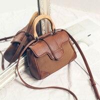 YOUR MOON 2018 Fashion Wooden handle Ladies Handbags Matte Surface Women Shoulder Bag Crossbody Messenger Mini Female Bag