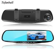 Tefanball Car Recorder HD 1080P Car Dvr Camera Auto 4.3 Inch Rearview Mirror Digital Video Recorder Dual Lens Camcorder 5 inch new novatek 96655 car dvr camera rearview mirror digital video recorder with dual lens registrar camcorder full hd 1080p