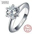 Big Promoção 100% Prata Maciça Conjunto Anel 1 Carat Sona CZ Anel de Noivado de diamante Real 925 Anéis de Prata Esterlina Para Mulheres JZR121