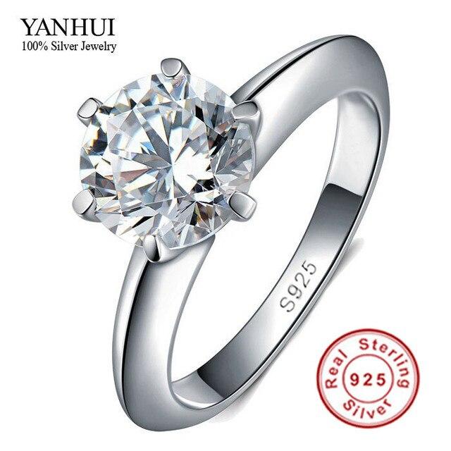 Big Promotion 100 Solid Silver Ring Set 1 Carat Sona CZ Diamant