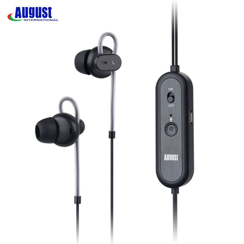 August EP720 Active Noise Cancelling Earphones with Microphone HiFi Stereo In Ear Music Earbuds with ANC