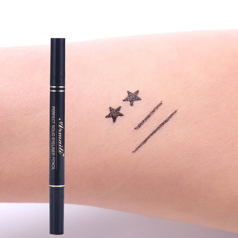 Eyeliner Brand Waterproof Black Eyeliner Pen With Moon Heart Star Stamp Eyes Makeup Liquid Eye Liner Pencil Seal Long-lasting Cosmetics
