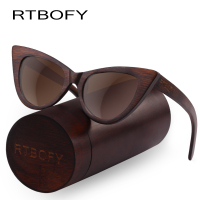 RTBOFY Wood Sunglasses For Men Women Bamboo Frame Eyeglasse Polarized Lenses Glasses Vintage Design Shades UV400