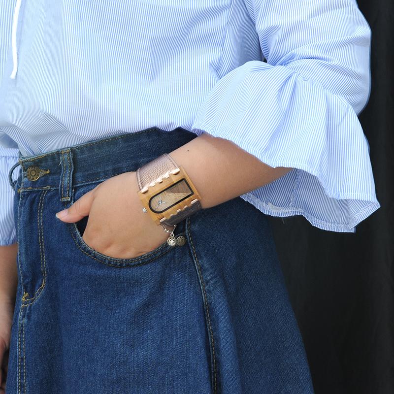BOBO BIRD New Designer Wooden Watches Women with PU Leather Strap Quartz Watch (57)