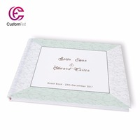 Free shipping Wedding spring mint green personalized Guestbook GB047