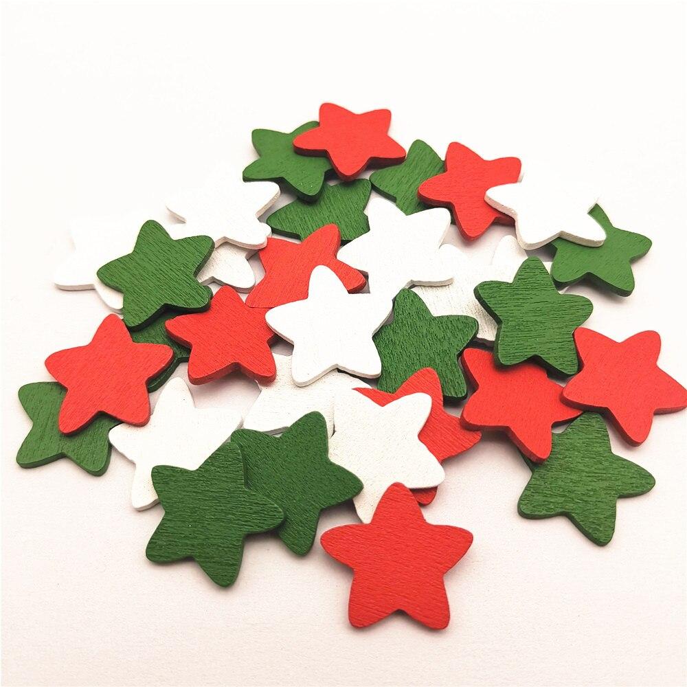 100 Wooden Embellishments Scrapbooking Cardmaking Craft DIY Christmas Tree Decor