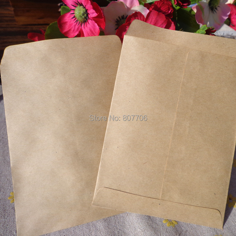 Paper-Bags Kraft Gift Wedding-Decoration Guests Party Mini 50pcs Solid for 9x12.5cm