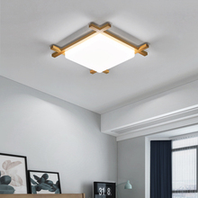 Modern Ceiling Lights Acrylic Shade Living Room Bedroom Square Ceiling Lamp Wood Kitchen Kids Plafondlamp Chinese Japanese Style hghomeart ceiling lights bedroom room e27 lamp110v 220v kids ceiling lamps american retro style acrylic shade rainbow fixtures