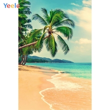Yeele Seaside Beach Coconut Tree Tropical Scenery Photography Backgrounds Personalized Photographic Backdrops For Photo Studio