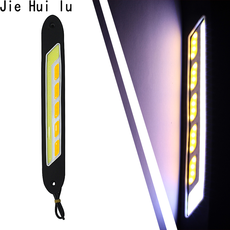 12v Daytime Running Light Waterproof Cob Led Day Light Fog Light Turning Signal Flexible Cars Running Lights For Motor Atv Suv