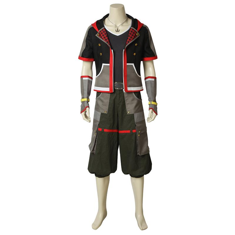 Game Kingdom Hearts 3 Cosplay Protagonist Sora Costume Uniform Suit Halloween Adult Men Outfit Full Set with Props Custom Made