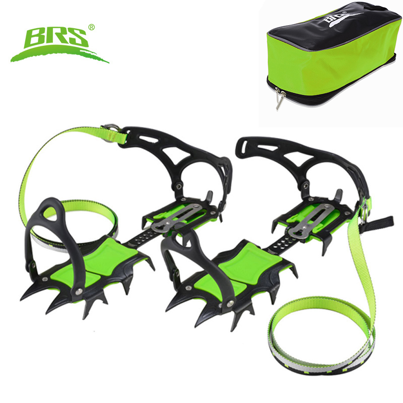 Anti Slip Crampons Traction Device Cleats Ice Snow Grips with 14 Spikes for Snow Boots Shoes