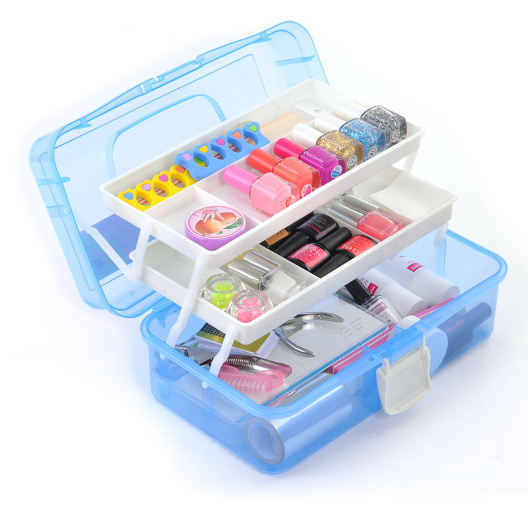 Professional 3 Layers Multi Utility Nail Art Box Large Small Size Storage Case Manicure Kit Nail