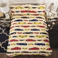 JaneYU High Quqlity Yellow Cars Duvet Cover + Pillowcase Duvet Sets